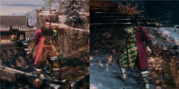 只狼:影逝二度鬼灭之刃炭治郎和服MOD 绿色版