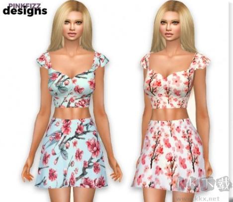 模拟人生4女士性感水墨画裙装MOD(附安装教程)