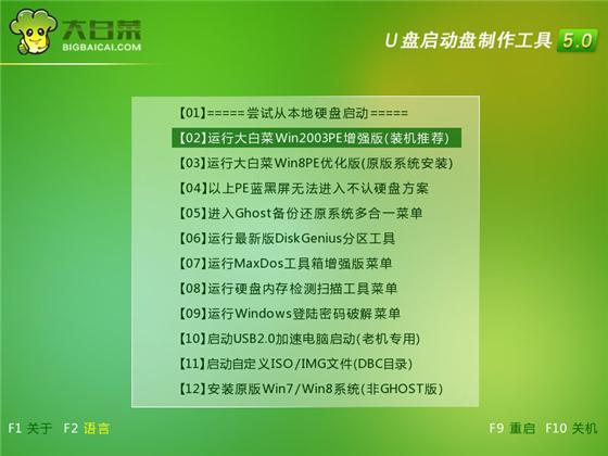 大白菜u盘装系统常见问题8