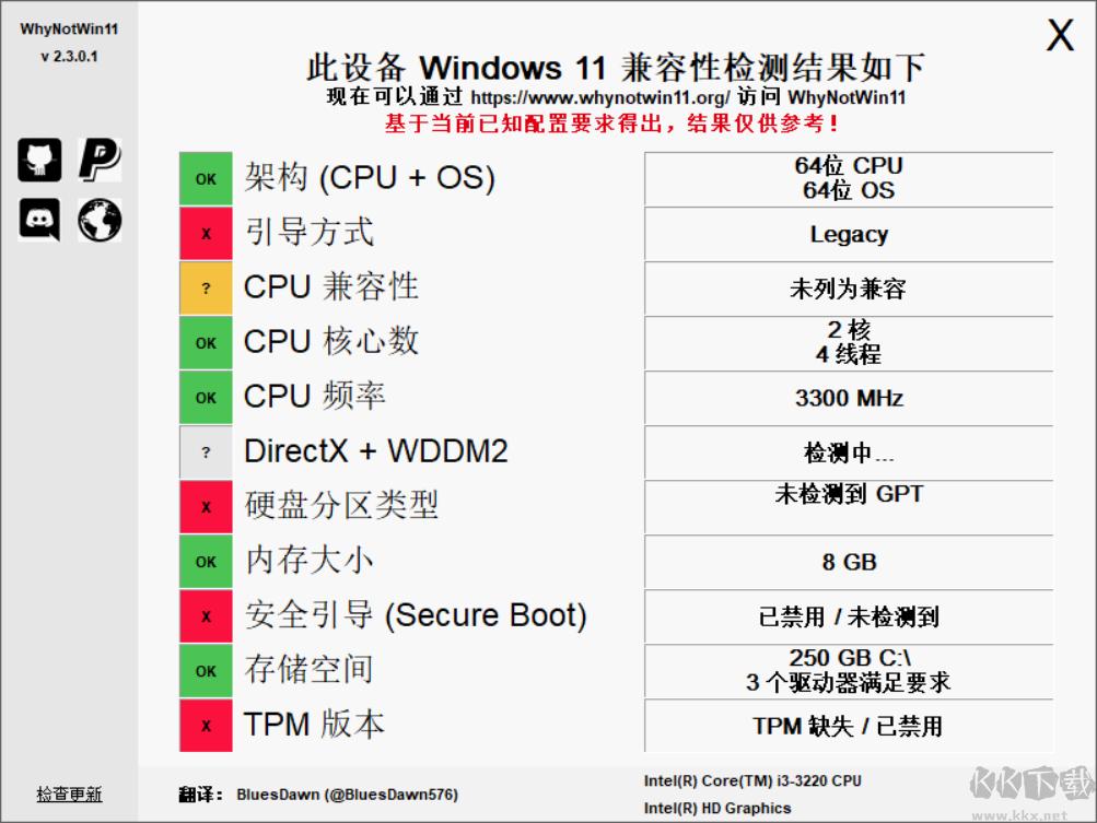 Win11硬件需求检测工具